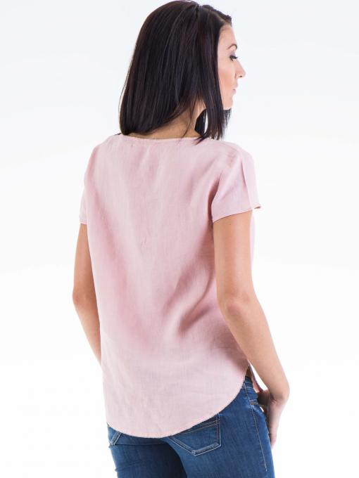 Дамска ленена блуза  XINT 263 - розова B