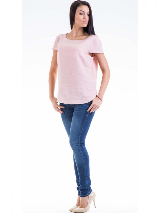 Дамска ленена блуза  XINT 263 - розова C