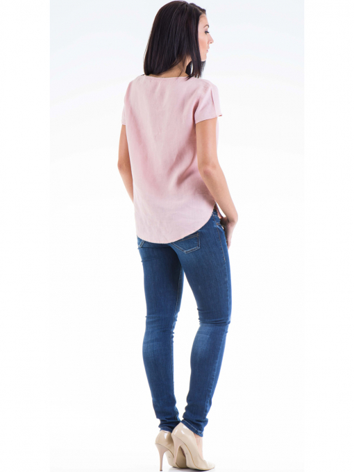Дамска ленена блуза  XINT 263 - розова E