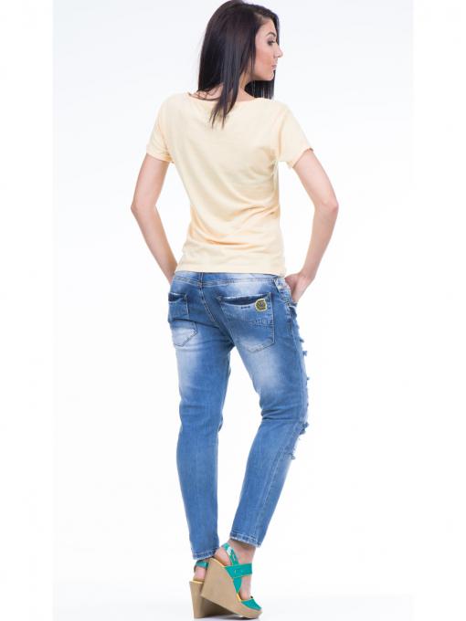 Дамска тениска с щампа XINT 384 - жълта E