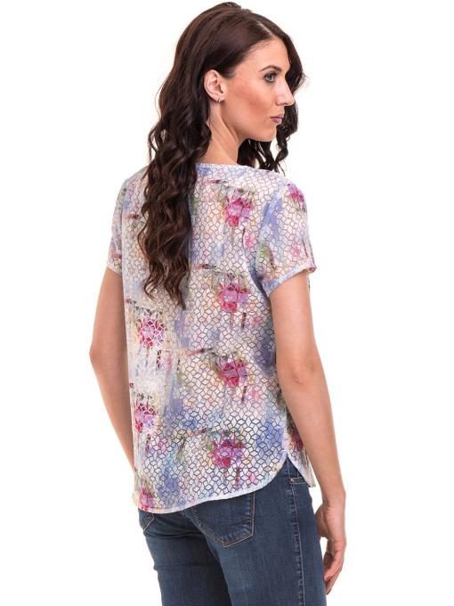 Дамска блуза с V-образно деколте XINT 401 - светло синя B