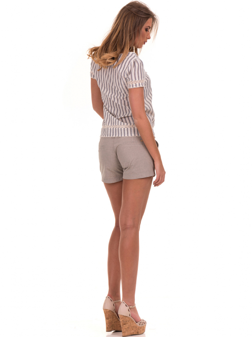 Дамска блуза на райе XINT 453 - цвят екрю E