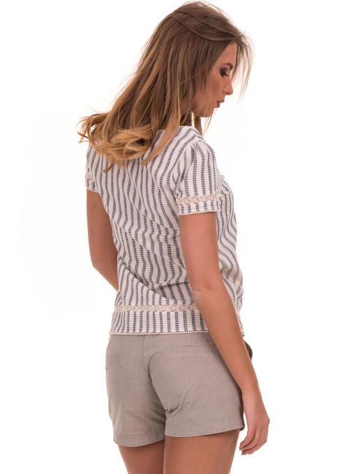 Дамска блуза на райе XINT 453 - цвят екрю B