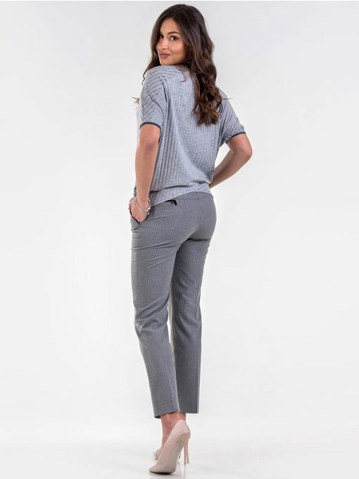 Светло сива спортно-елегантна дамска блуза 601315 INDIGO Fashion