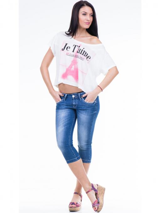 Дамска блуза свободен модел XINT 617 - цвят екрю C