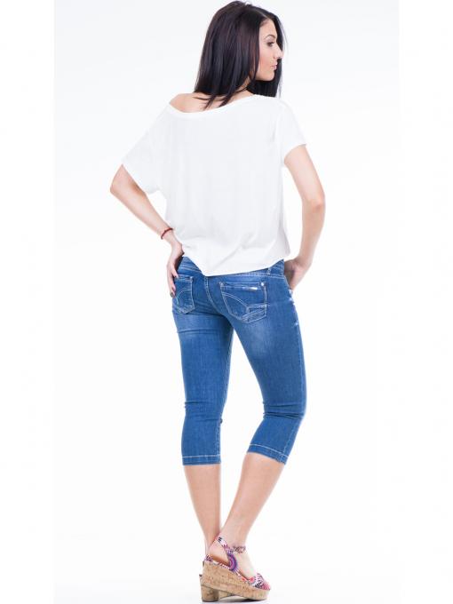Дамска блуза свободен модел XINT 617 - цвят екрю E