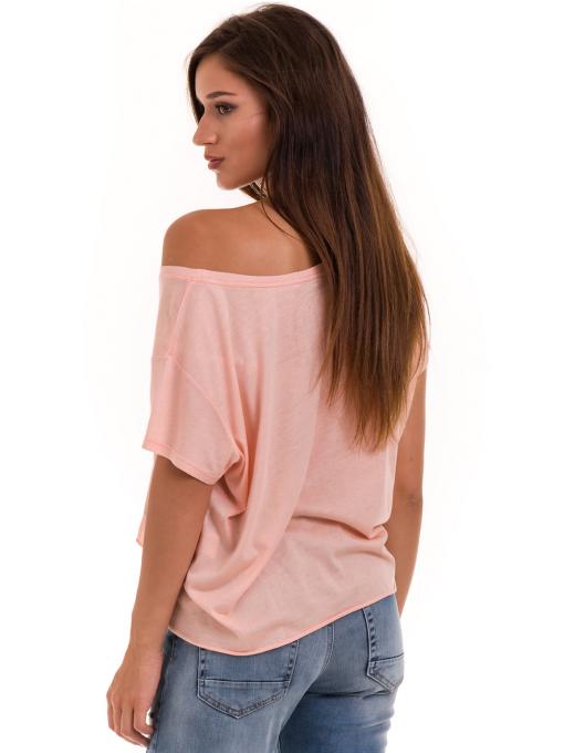 Дамска блуза свободен модел XINT 617 - цвят праскова B