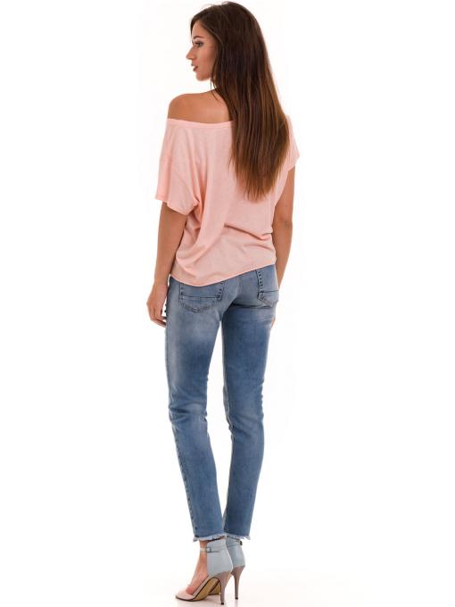 Дамска блуза свободен модел XINT 617 - цвят праскова E