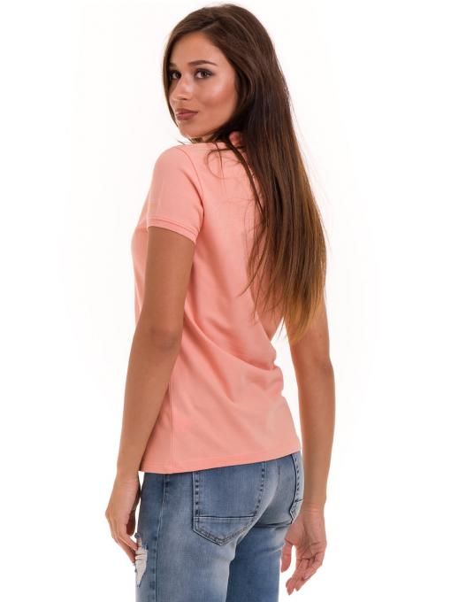 Дамска блуза с яка XINT 746 - цвят праскова B