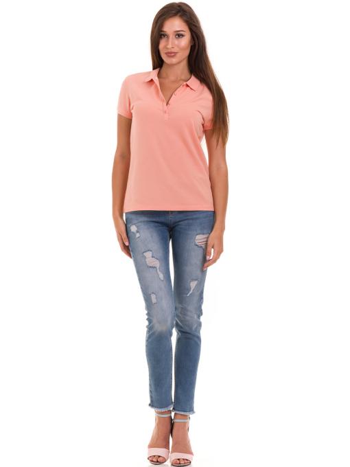Дамска блуза с яка XINT 746 - цвят праскова C