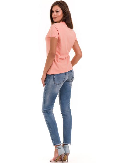 Дамска блуза с яка XINT 746 - цвят праскова E