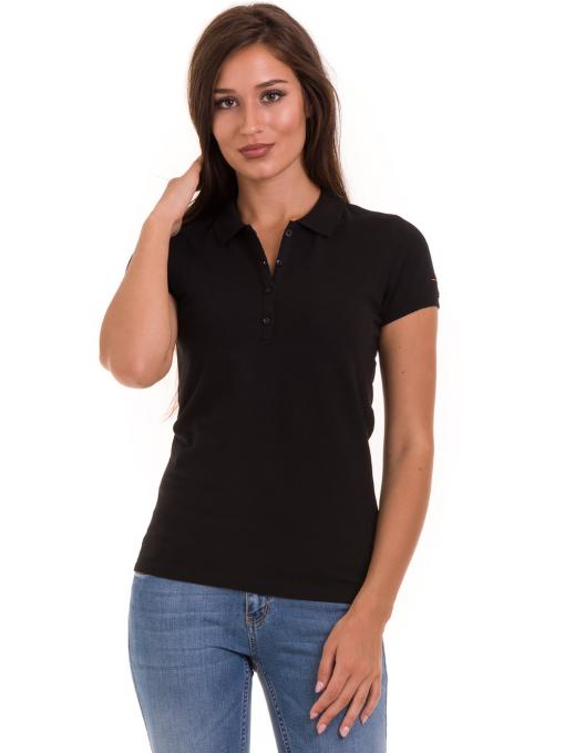Дамска блуза с яка XINT 746 - черна