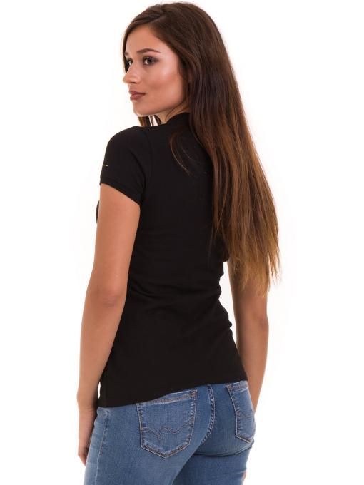 Дамска блуза с яка XINT 746 - черна B