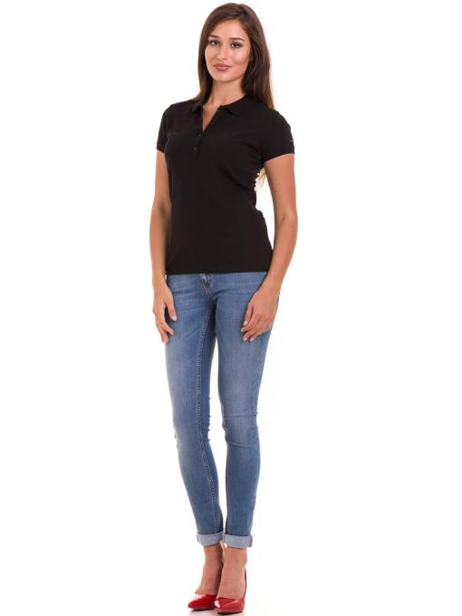 Дамска блуза с яка XINT 746 - черна C