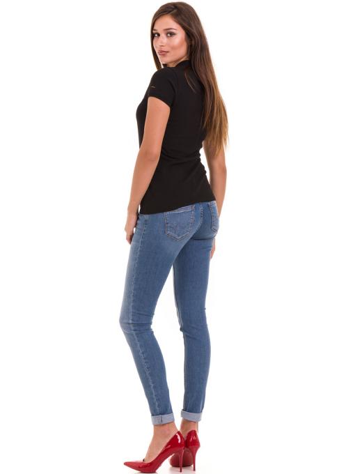 Дамска блуза с яка XINT 746 - черна E