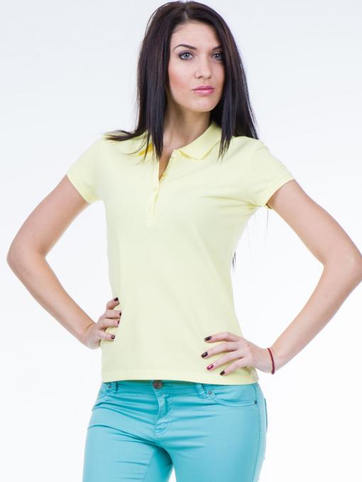 Дамска блуза с яка XINT 746 - жълта