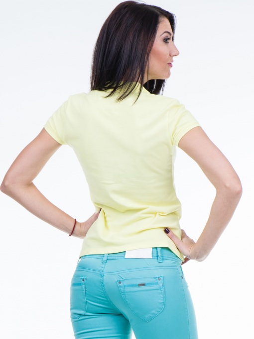 Дамска блуза с яка XINT 746 - жълта B
