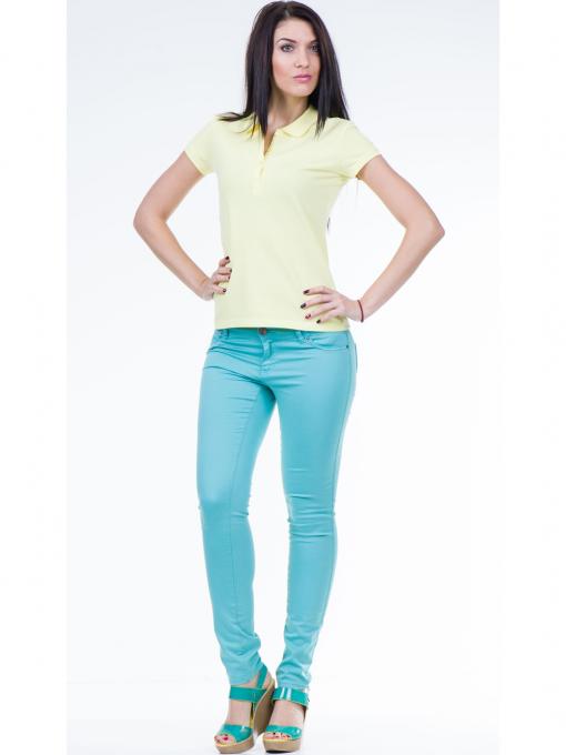 Дамска блуза с яка XINT 746 - жълта C