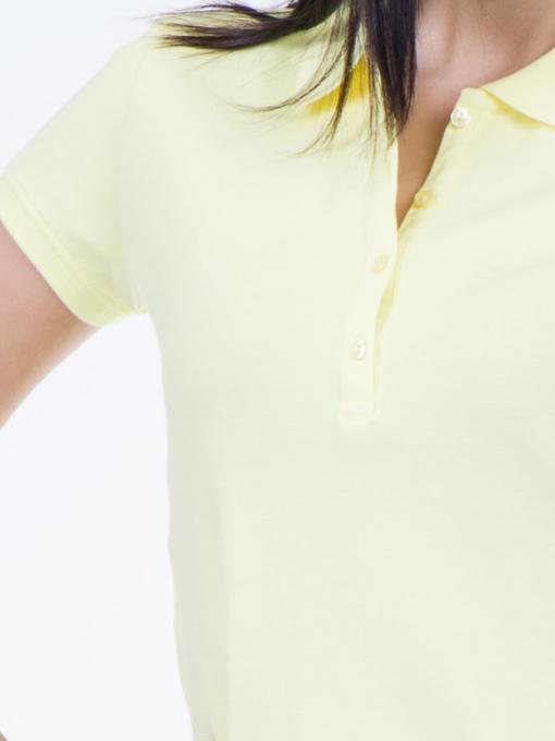 Дамска блуза с яка XINT 746 - жълта D