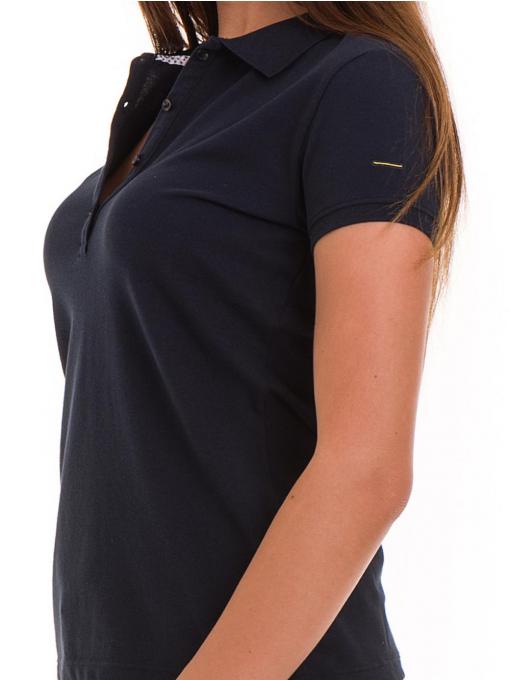 Дамска блуза с яка XINT 746 - тъмно синя D