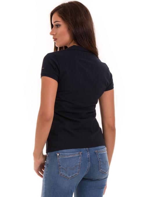 Дамска блуза с яка XINT 746 - тъмно синя B