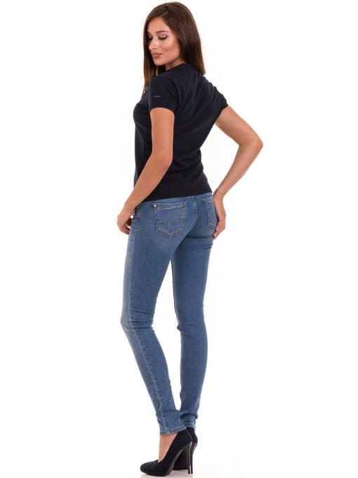 Дамска блуза с яка XINT 746 - тъмно синя E