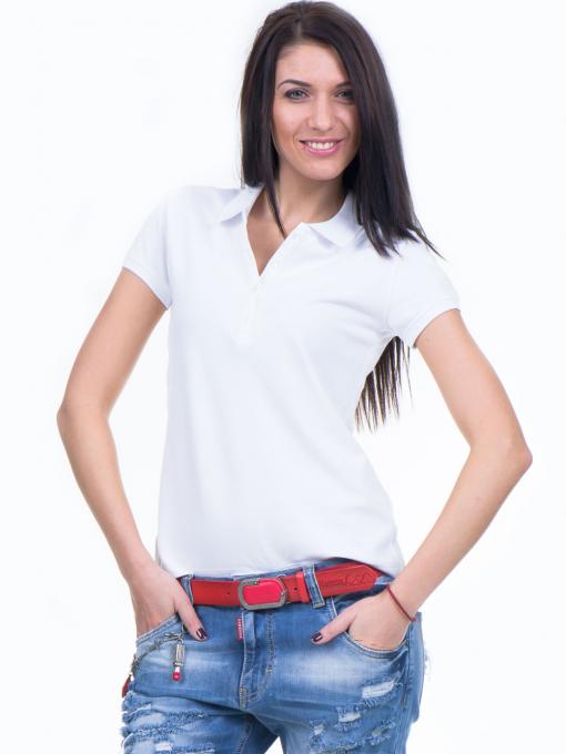 Дамска блуза с яка XINT 746 - бяла