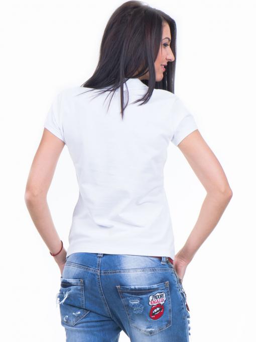 Дамска блуза с яка XINT 746 - бяла B