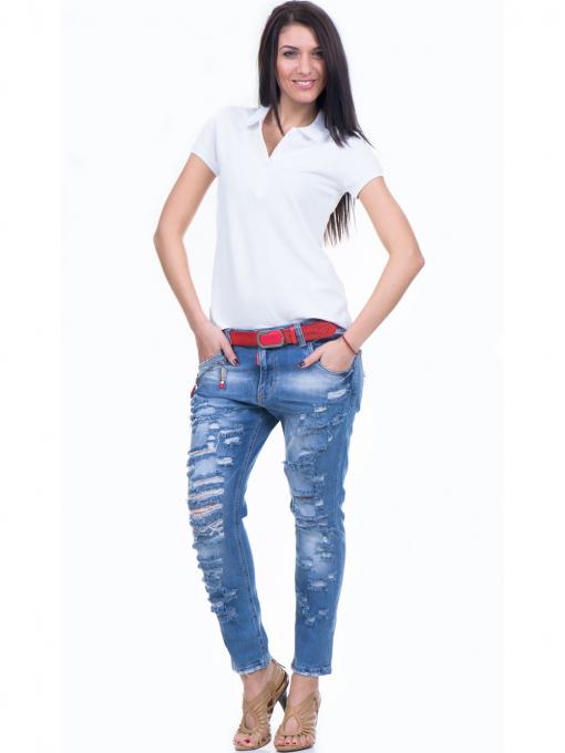 Дамска блуза с яка XINT 746 - бяла C