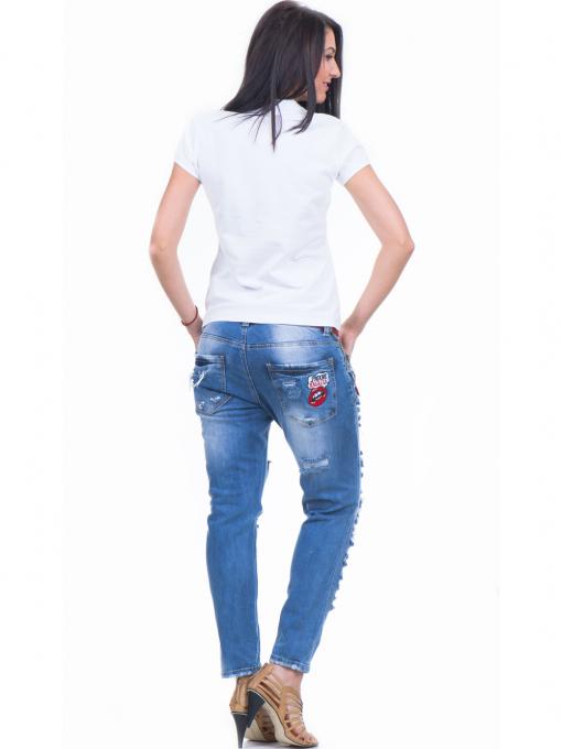 Дамска блуза с яка XINT 746 - бяла E