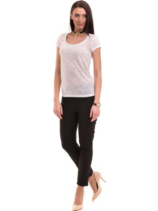 Дамска блуза с обло деколте XINT 755 - бяла C