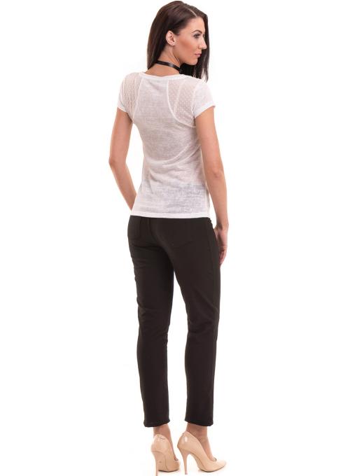 Дамска блуза с обло деколте XINT 755 - бяла E