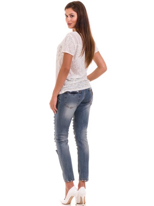 Дамска блуза свободен модел XINT 805 - цвят екрю E