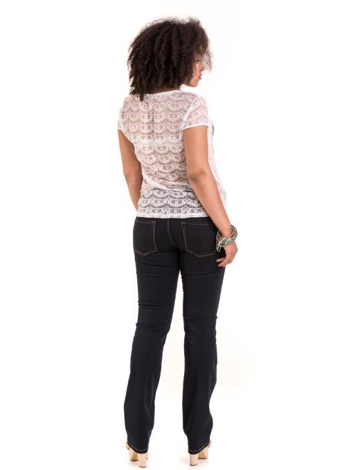 Дамска блуза с щампа XINT 806 - цвят екрю E