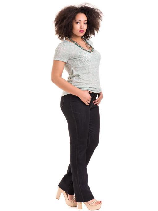 Дамска блуза с фигурален десен XINT 825 - цвят резеда C