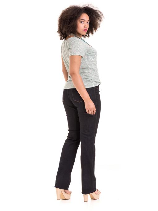 Дамска блуза с фигурален десен XINT 825 - цвят резеда E