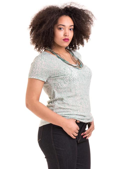Дамска блуза с фигурален десен XINT 825 - цвят резеда