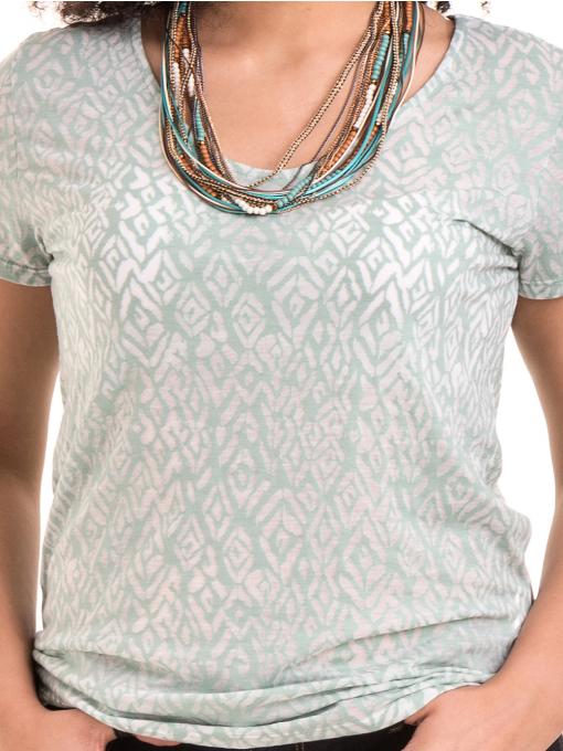 Дамска блуза с фигурален десен XINT 825 - цвят резеда D