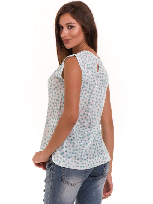 Дамска блуза на точки XINT 828 - зелена B