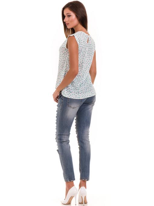 Дамска блуза на точки XINT 828 - зелена E