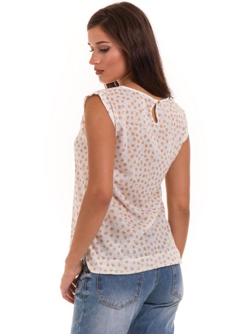 Дамска блуза на точки XINT 828 - цвят горчица B