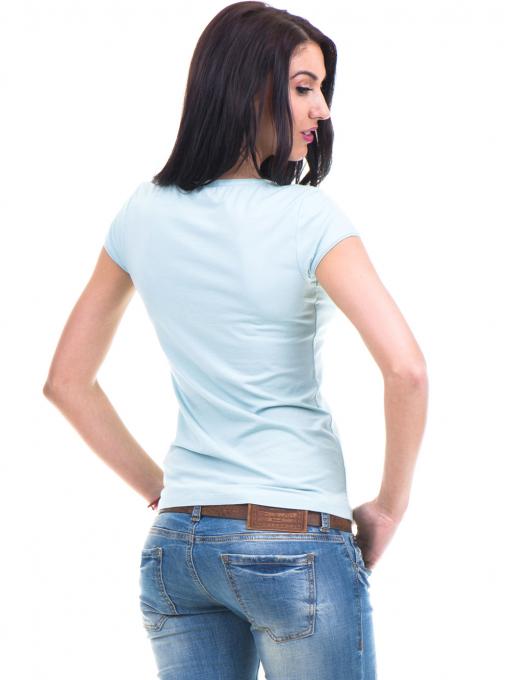 Дамска едноцветна блуза XINT 973 - зелена B