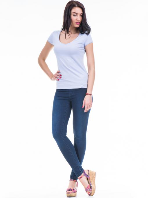 Дамска едноцветна тениска XINT 973 - лилава C