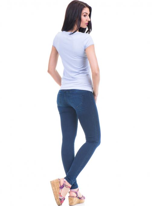 Дамска едноцветна тениска XINT 973 - лилава E