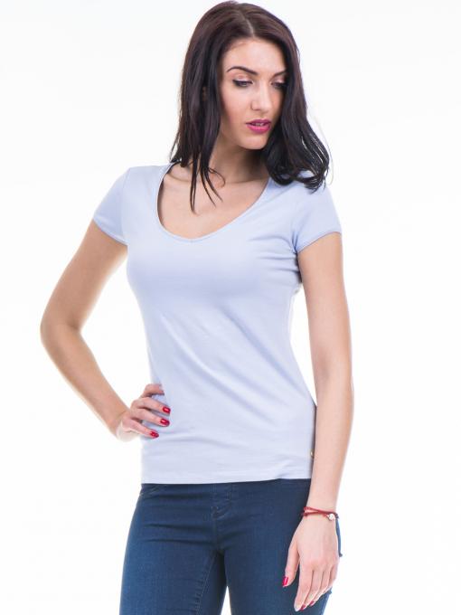 Дамска едноцветна тениска XINT 973 - лилава
