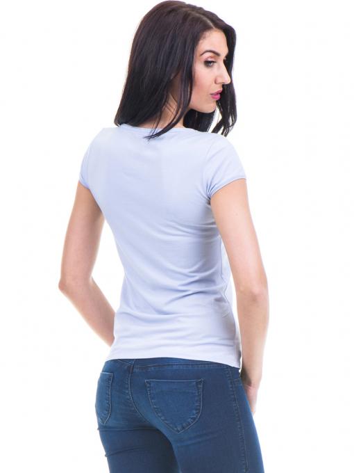 Дамска едноцветна тениска XINT 973 - лилава B