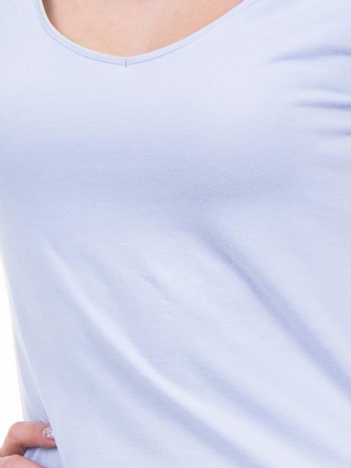 Дамска едноцветна тениска XINT 973 - лилава D