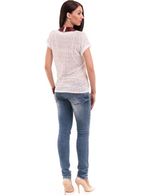 Дамска блуза с фигурални мотиви XINT 998 - цвят екрю E