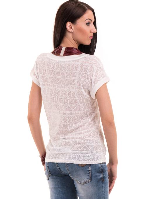 Дамска блуза с фигурални мотиви XINT 998 - цвят екрю B