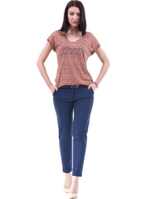 Дамска блуза с фигурални мотиви XINT 998 - цвят керемида C